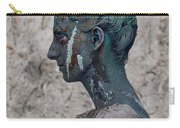 Woman In Bronze Statue Look With Patina Body Paint Carry-all Pouch