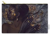 Woman In Splattered Golden Facial Paint Carry-all Pouch