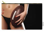 Woman With A Football Carry-all Pouch