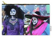 2 Women Day Of The Dead  Carry-all Pouch