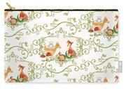 Woodland Fairytale - Animals Deer Owl Fox Bunny N Mushrooms Carry-all Pouch