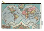 World Map In Two Hemispheres  Carry-all Pouch