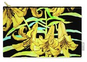 Yellow Lilies, Hand Drawn Painting Carry-all Pouch