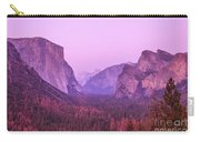 Yosemite Pink Sunset Carry-all Pouch