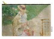 Young Woman Knitting Carry-all Pouch