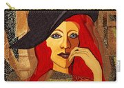 200 - Woman With Black Hat .... Carry-all Pouch