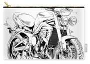2011 Triumph Street Triple, Black And White Motorcycle Carry-all Pouch