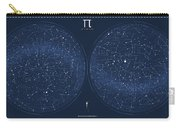 2017 Pi Day Star Chart Azimuthal Projection Carry-all Pouch