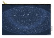 2017 Pi Day Star Chart Hammer/aitoff Projection Carry-all Pouch