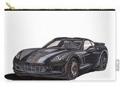 2017 Triple Black Corvette Carry-all Pouch