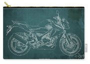 2018 Honda Cb300f Abs Blueprint Green Background Carry-all Pouch