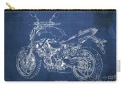 2018 Yamaha Mt07,blueprint,blue Background,fathers Day Gift, 2018 Carry-all Pouch