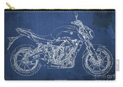 2018 Yamaha Mt07,blueprint,blue Background,fathers Day Gift Carry-all Pouch