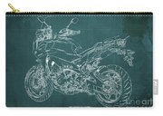 2018 Yamaha Tracer 900gt Blueprint Green Background Carry-all Pouch