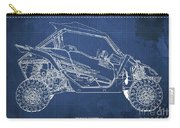 2018 Yamaha Wolverine X4 Blueprint Blue Background Gift For Dad Carry-all Pouch