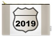 2019 Highway Sign Carry-all Pouch