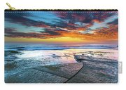 Sunrise Seascape And Rock Platform Carry-all Pouch