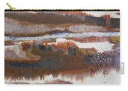 21. V2 Rustic Brown, Red And White Glaze Painting Carry-all Pouch