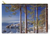 211257 Snow On Tree Sides Lake Tahoe Carry-all Pouch