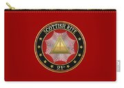 21st Degree - Noachite Or Prussian Knight Jewel On Red Leather Carry-all Pouch