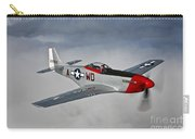 A P-51d Mustang In Flight Carry-all Pouch