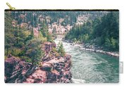 Kootenai River Water Falls In Montana Mountains Carry-all Pouch