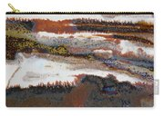 22. V2 Rustic Brown, Red And White Glaze Painting Carry-all Pouch