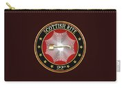 22nd Degree - Knight Of The Royal Axe Jewel On Black Leather Carry-all Pouch