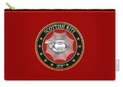 23rd Degree - Chief Of The Tabernacle Jewel On Red Leather Carry-all Pouch