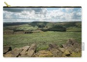 Beautiful Vibrant Landscape Image Of Burbage Edge And Rocks In S Carry-all Pouch