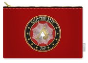 24th Degree - Prince Of The Tabernacle Jewel On Red Leather Carry-all Pouch