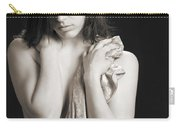 Claudia Nude Fine Art Print In Sensual Sexy Black And White Or S Carry-all Pouch