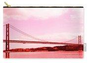 25 De Abril Bridge In Crimson Carry-all Pouch