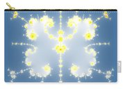 Fractal Floral Pattern Carry-all Pouch