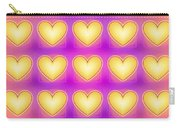 25 Little Yellow Love Hearts Carry-all Pouch