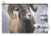 25084, Bighorn Sheep, Winter, Jasper Carry-all Pouch