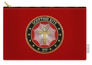 25th Degree - Knight Of The Brazen Serpent Jewel On Red Leather Carry-all Pouch