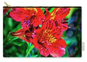 2647- Red Flowers Carry-all Pouch