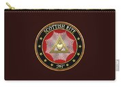 26th Degree - Prince Of Mercy Or Scottish Trinitarian Jewel On Black Leather Carry-all Pouch