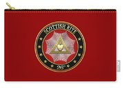 26th Degree - Prince Of Mercy Or Scottish Trinitarian Jewel On Red Leather Carry-all Pouch