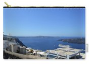 28 September 2016 White Houses By The Sea In Santorini, Greece  Carry-all Pouch