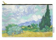 A Wheatfield With Cypresses Carry-all Pouch