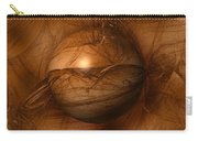 Abstract Brown Globe Carry-all Pouch