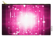 Abstract Circuit Board Lighting Effect  Carry-all Pouch by Setsiri Silapasuwanchai