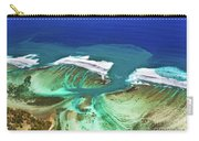 Aerial View Of The Underwater Channel. Mauritius Carry-all Pouch