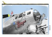 B-17g Flying Fortress Sentimental Journey 2 Avra Valley Arizona 1991 Color Added 2008 Carry-all Pouch