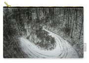 Bad Road Conditions While Driving In Winter Carry-all Pouch