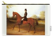 Barraud Henry Richard Paget Of Cropston Leicester On A Bay Hunter Henry Barraud Carry-all Pouch