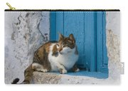 Cat In A Doorway, Greece Carry-all Pouch