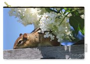 Chipmunk Chillin' On The Railin' Carry-all Pouch